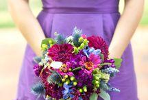 green-violet dress