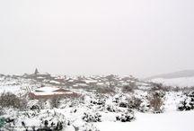 Urrez nevado / Parajes del pueblo de Urrez, su entorno en la Sierra de la Demanda bajo la nieve.