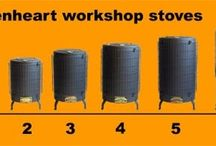 Workshop stoves / Ideal for sheds and workshops and can burn sawdust and wood