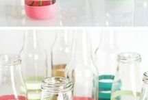 diy decorar botes y botellas
