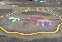 2015 installations by first4playgrounds / first4playgrounds playground markings installations 2015