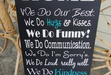 Typography, Family Rules Signs / by Our Hobby To Your Home & Wedding