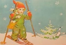 Art by Martta Wendelin / Martta Wendelin (23 November 1893 in Kymi - 1 March 1986 in Tuusula) was a Finnish painter and illustrator. She is loved by her illustrations for Kotiliesi magazine and hundreds of postcards.