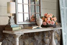 Decorating console table