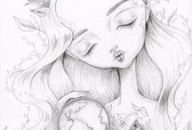 Lauren Saxton: Para colorir