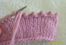 Зубчатый край в вязании