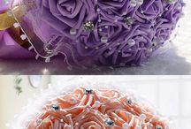 ribbon wedding flower