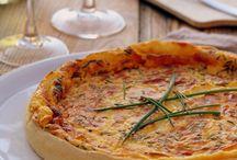 Quiche, tarte, pizza
