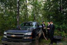 black tie wedding photos