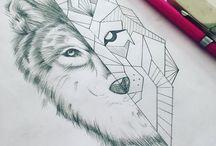 Wolf Tattoo Geometric