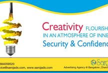 Media Designing Services in India / Creativity flourish in an atmosphere of inner security & confidence.