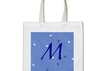 Tote Bags, Canvas and Polyester / Artistic, Monogram, and Design Your Own Canvas Bags