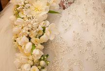Bouquets de mariée retombant