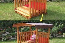 Детские площадки и домики