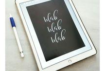 iPad Pro Lettering