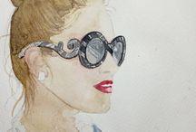 Eyewear fashion illustration