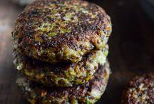 *Veggie Burgers* / veggie burgers that are both vegetarian and plant based. Yum!