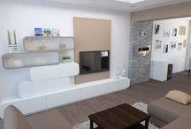 interier obývacího pokoje