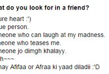 What do you look for in a friend? / Ask's answers. Very sincere.