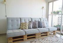 Canape en palettes