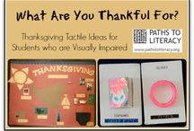 Thanksgiving: Kids Activities, Books & More / Thanksgiving and November activities, ideas, sensory play, and more for kids of all sight levels.