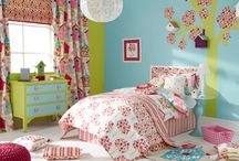 Ideas for a child's bedroom / Inspiration for decorating a child's bedroom, how to add colour, pattern and interest, that will appeal to a child and adult.