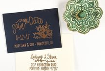 wed: stationery / Wedding invitations, Save the Dates and other wedding stationery.