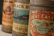 VINTAGE TINS | TOYS | CRATES / :: I just love the vintage typography on this old tins! Please FOLLOW if you want to take more than 10 pins.  / by E l o d i e • S