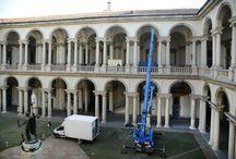 Foto allestimento Primo Dialogo Raffaello e Perugino.