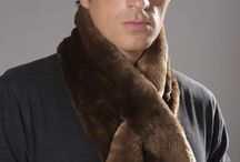 Men's real fur scarves / Amifur.com online store offers the best selection of real fur scarves for men.  www.amifur.com