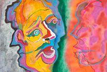 """Exhibition """"PAUL HAWDON"""" / """"Nos trabalhos de Paul Hawdon os elementos distantes parecem estar perto, reflectem intimidade. Predominam movimentos de linhas em ondulações  verticais e horizontais, e  revelam que o artista buscou intensificar tanto as sensações de calmaria e tranquilidade, como as sensações mais perturbadoras"""" (José Roberto Moreira, curador e galerista).  Paul Hawdon vive e trabalha no Reino Unido."""