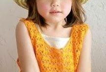 Crocheted girl 's vest