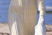 Платье длинное спицами