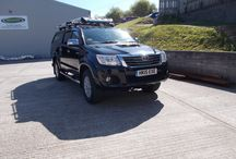 Toyota Hilux with AFN winch mount and Warrior Winch