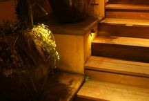 Planter Pot lighting / Using low voltage lighting in planter pots, we are able to create interest and safety lighting in landscapes.