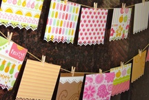 banners, bunting and rosettes