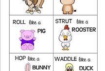 Farm preschool theme / All things related to farm life, farm animals, and farms.