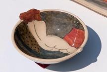 Louise gardelle / Ceramics painted figures