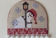 cross stitch collage