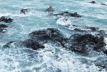 Caresses sur l'océan