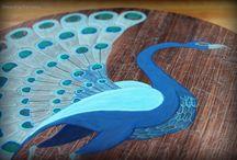Art on wood / Hand made art on wood