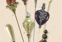 Hat pins & stick pins / Those wonderful elements of the past. And maybe a pin cushion or two.