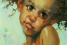 Portret donkere huid