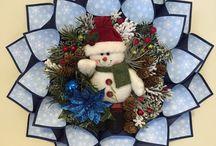 sewn wreaths
