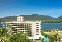 QLD - Hilton Cairns / The Hilton Resort Cairns is situated among the lush tropical landscapes of Cairns overlooking the Trinity Inlet. The Hilton Resort is a five-star resort that boasts luxury and comfort.