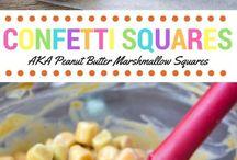 Confetti peanut butter squares