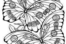 Coloring pages for T & M / by Kate Wilson