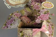 Flower box cards