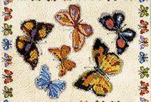 Latch Hook Rug Kits Butterflies