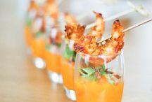Entrees / Verrine potimaron crevettes